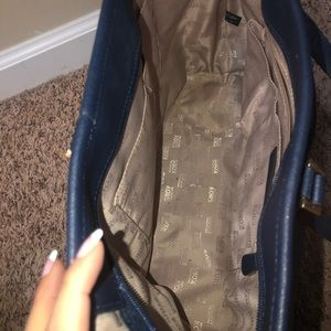 Michael Kors Bags - Blue and gold Michael Kors bag